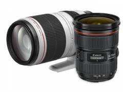 EF 24-70 mm 1:2,8L II USM + EF 100-400 mm 1:4,5-5,6L IS II USM